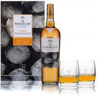 Macallan Amber Edición Limitada Estuche 2 Vasos 2016 (Speyside)
