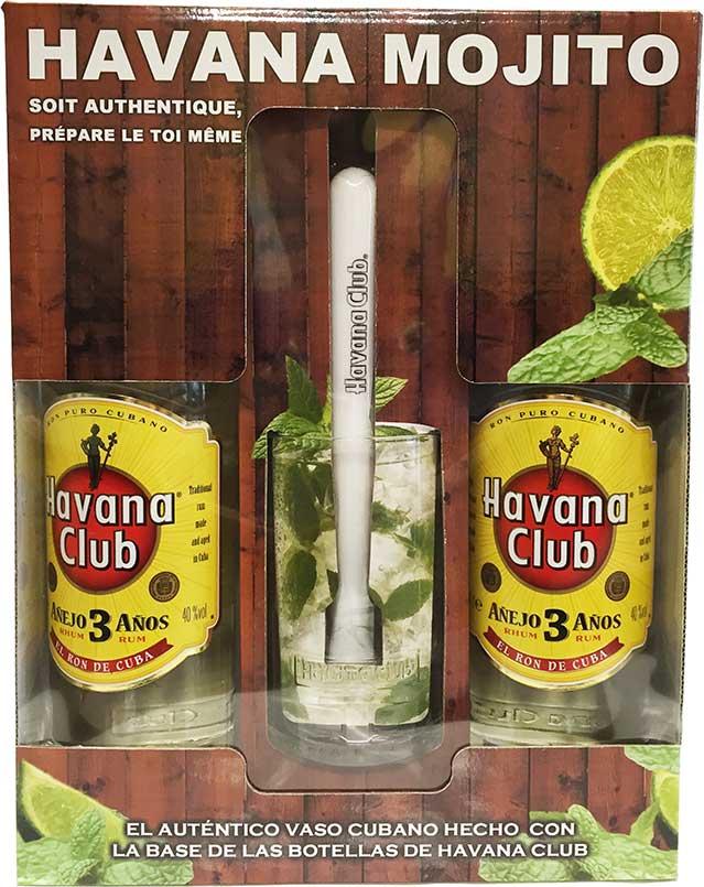 havana club r serve 3 ans 2 bouteilles verre de mojito. Black Bedroom Furniture Sets. Home Design Ideas