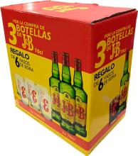 JB 3 botellas + 6 Vasos
