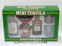 Tequila Ranchito Collection (3 Miniatures + 2 Glasses)