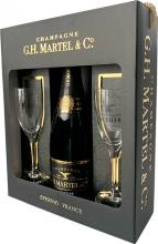 G.H.Martel & Co. Brut Prestige + 2 Glasses