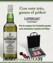 Laphroaig 2 Bottles + Poker Case (Islay)