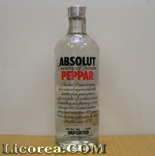 Absolut Peppar, 1 Litre (Sweden)