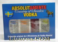 Colección 4 Vodkas Absolut