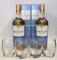 Macallan Fine Oak Reserve 12 Years 2 Bottles + 4 Glasses (Highla