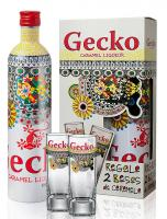 Caramel Vodka Gecko Ed. Victorio & Lucchino + 2 Collector glasses