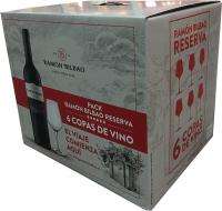 Ramón Bilbao Reserva 2014 6 Bottles + 6 Glasses