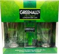 Greenall's London Dry Gin + 2 Glassër