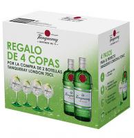 Tanqueray 2 Botteles + 4 Glasses