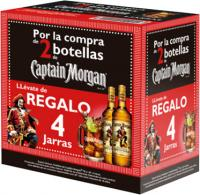 Captain Morgan Spiced 2 Bottles + 4 Jars