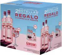 Gordon's Premium Pink 2 bottles + 4 Globet
