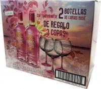 Larios Rosé 2 Bottles + 3 Globets (Spain)