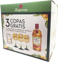 Tanqueray Flor de Sevilla + 3 Gläsern