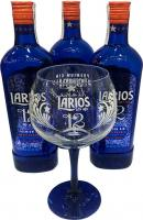 Larios 12 3 Bottles + 6 Globets (Spain)