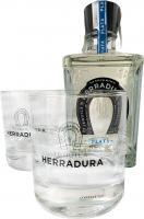 Herradura Plata + 2 Glasses
