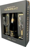 G.H.Martel & Co. Brut Prestige + 2 Glasses