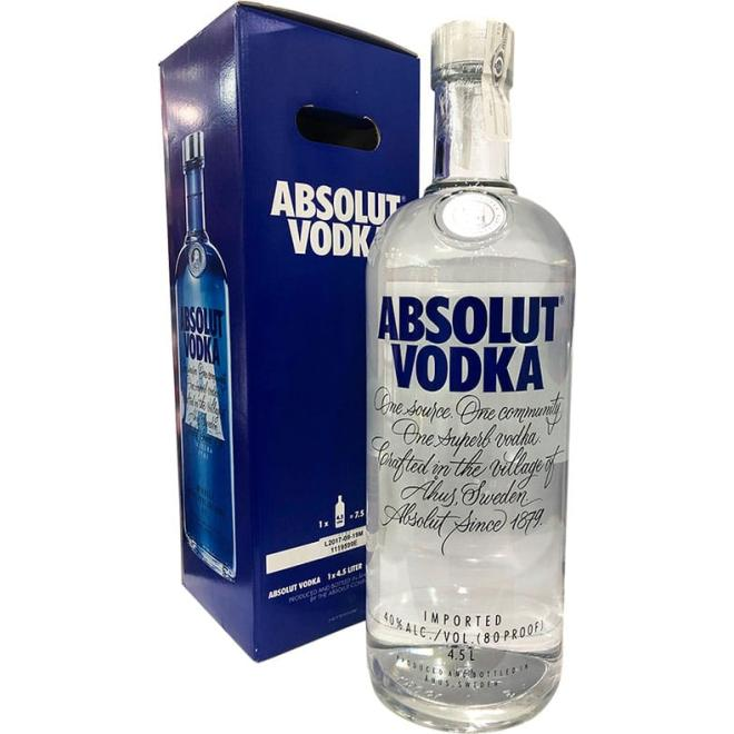 Absolut Vodka 4.5 Litres