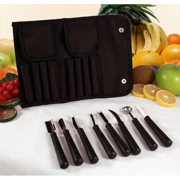 Small Garnish Tool Roll- 8 pieces