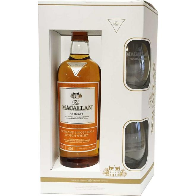 Macallan Amber Limited Edition with 2 Glasses (Speyside)