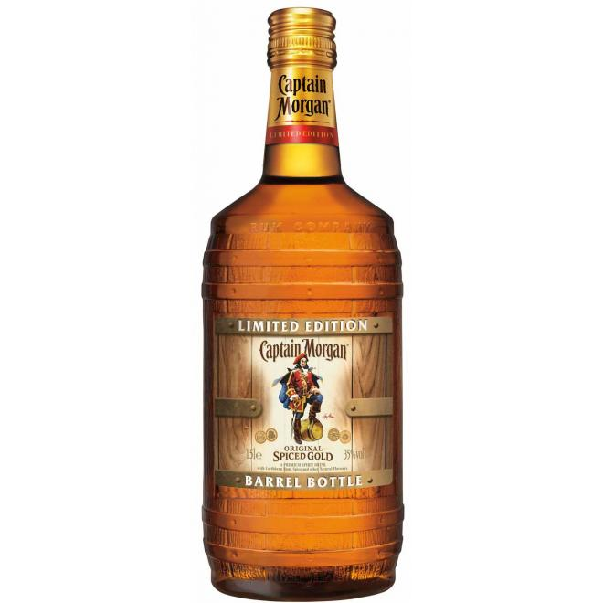 Captain Morgan Spiced Barrel Bottle Limited Edition 1.5 Liter
