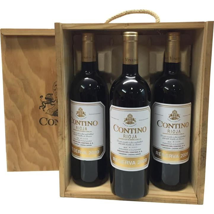 Contino Reserve 2012 Wooden Case 3 Bottles