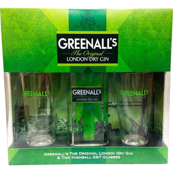 Greenall's London Dry Gin + 2 Glasses