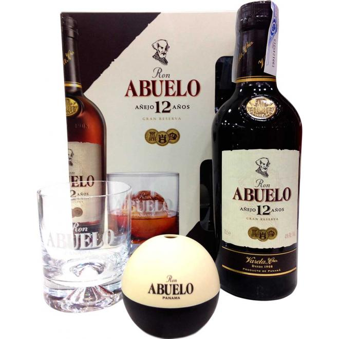 Abuelo Reserve 12 Years + Glass + Silicon Ice Ball Mold