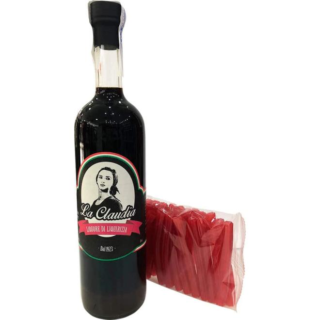 La Claudia Liquore di Liquirizia (Licorice) + 25 Strawberry liquorice