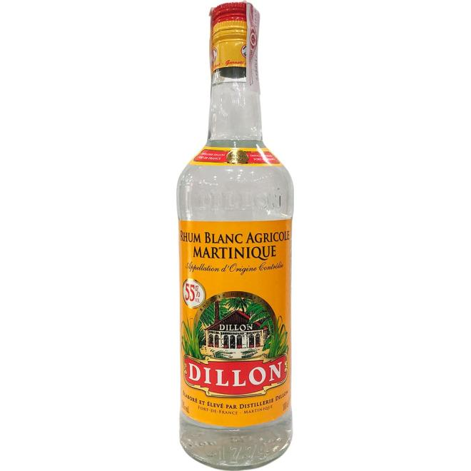 Rhum Blanc Dillon 55% (Martinique)