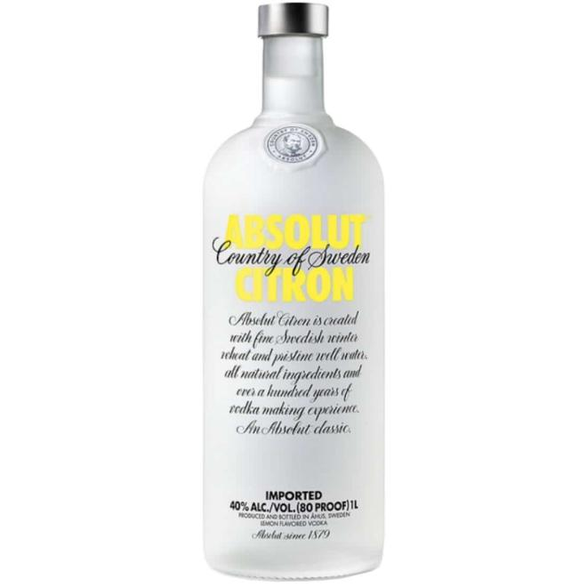Absolut Citron 1 Liter (Suecia)